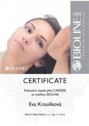 Certifikát Caresse