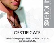Certifikát D-stress