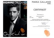 Certifikát pro pánské ošetření Thalasso od Maria Galland