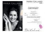 Certifikát pro ošetření Profilift od Maria Galland