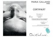Certifikát pro expresní ošetření od Maria Galland