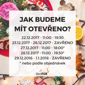 Vánoční otevírací doba 2017 u SlimFOX