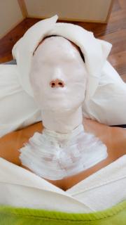 Aplikovaná maska na bázi alginátu