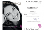 Certifikát Maria Galland CLARITY Jana K.