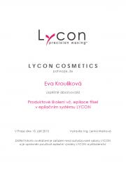 Certifikát LYCON Eva K.