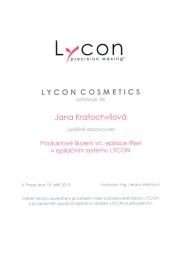 Certifikát LYCON Jana K.