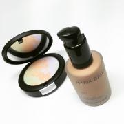 Matující make-up a zdokonalující pudr
