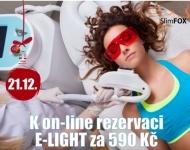 21.12. K on-line rezervaci ošetření e-light jen za 590 Kč