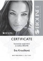 Certifikát masáž ABC