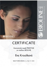 Certifikát Prestige