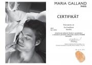 Certifikát pro pánské ošetření od Maria Galland