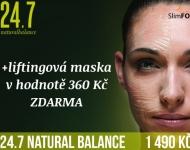 Ošetření 24.7 Natural Balance LUX + ESA PEPTIDE liftingová maska ZDARMA