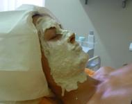 Nanesená alginátová maska - ošetření Reveillance