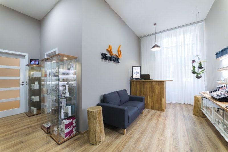 Interier SlimFOX - kosmetika a pedikúra v centru Brna