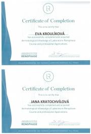 certifikáty Renophase pro SlimFOX